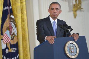 """Obama describió la pregunta como """"sin sentido"""". Foto:AFP. Imagen Por:"""