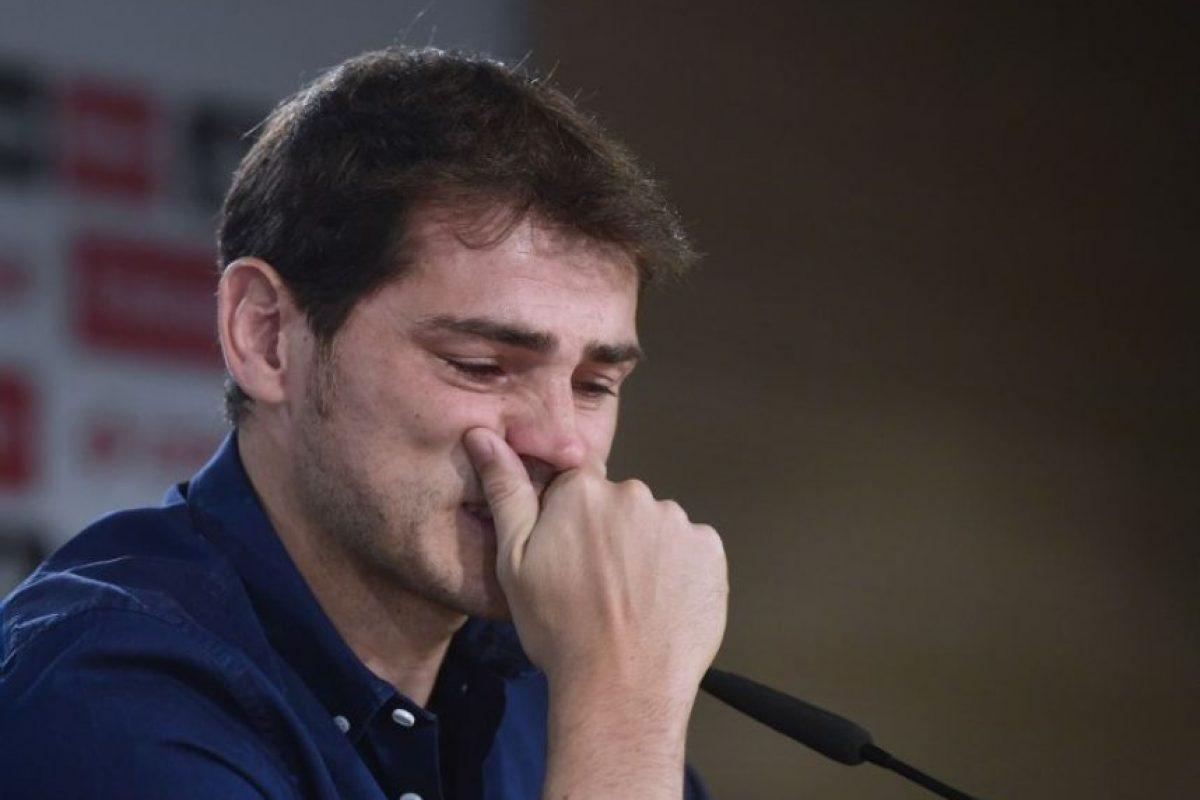 Casillas durante su despedida Foto:AFP. Imagen Por: