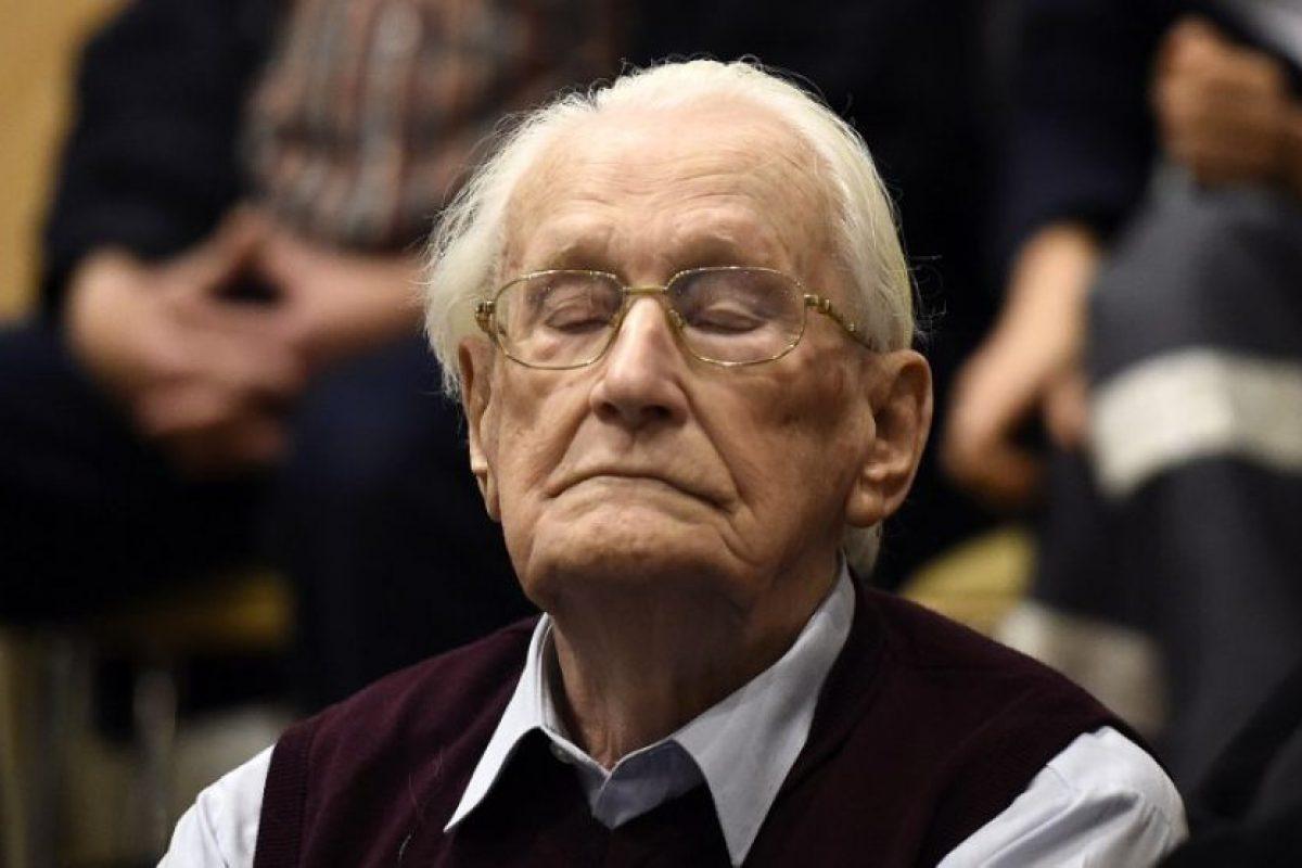 Cuatro años de cárcel para el «contable de Auschwitz» por ser cómplice de más de 300.000 asesinatos Foto:AFP. Imagen Por: