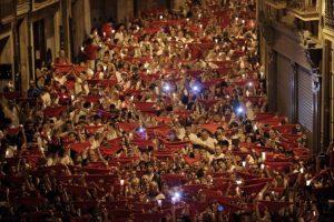 Las fiestas de San Fermín en Pamplona, España Foto:AFP. Imagen Por:
