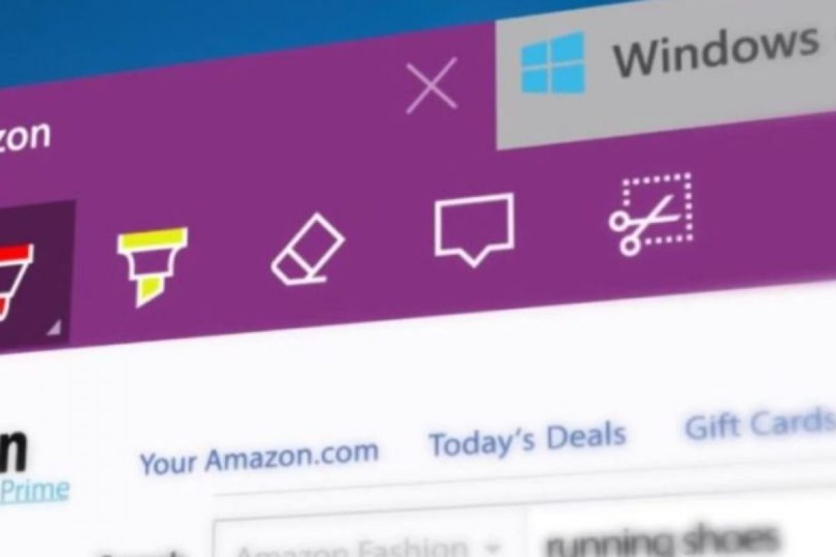 También se agregaron más opciones web como recortar, anotar, marcar y borrar en una página web. Foto:Microsoft Windows. Imagen Por: