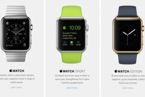 Se divide en tres colecciones diferentes: Apple Watch, Apple Watch Sport y Apple Watch Edition Foto: Apple. Imagen Por: