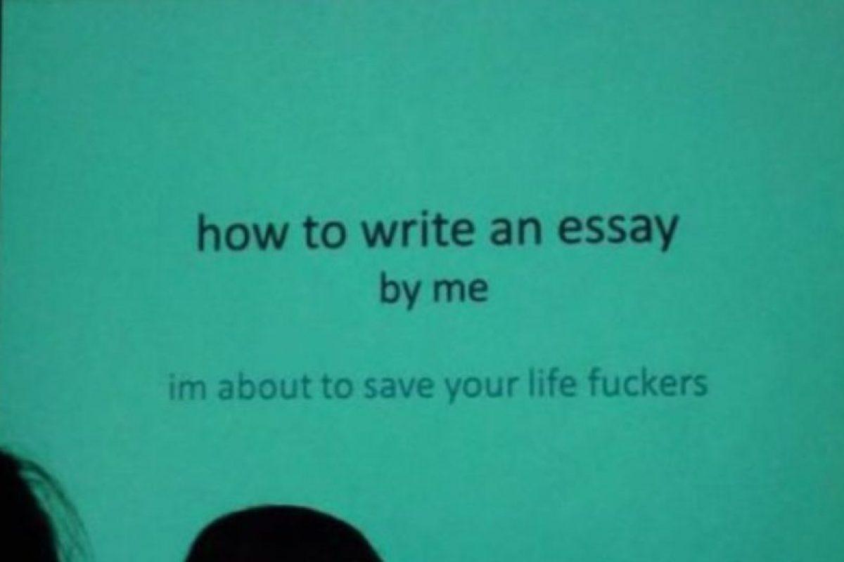 """""""Cómo escribir un ensayo… por mí (voy a salvar su vida, desgraciados)"""". Foto:vía Imgur. Imagen Por:"""