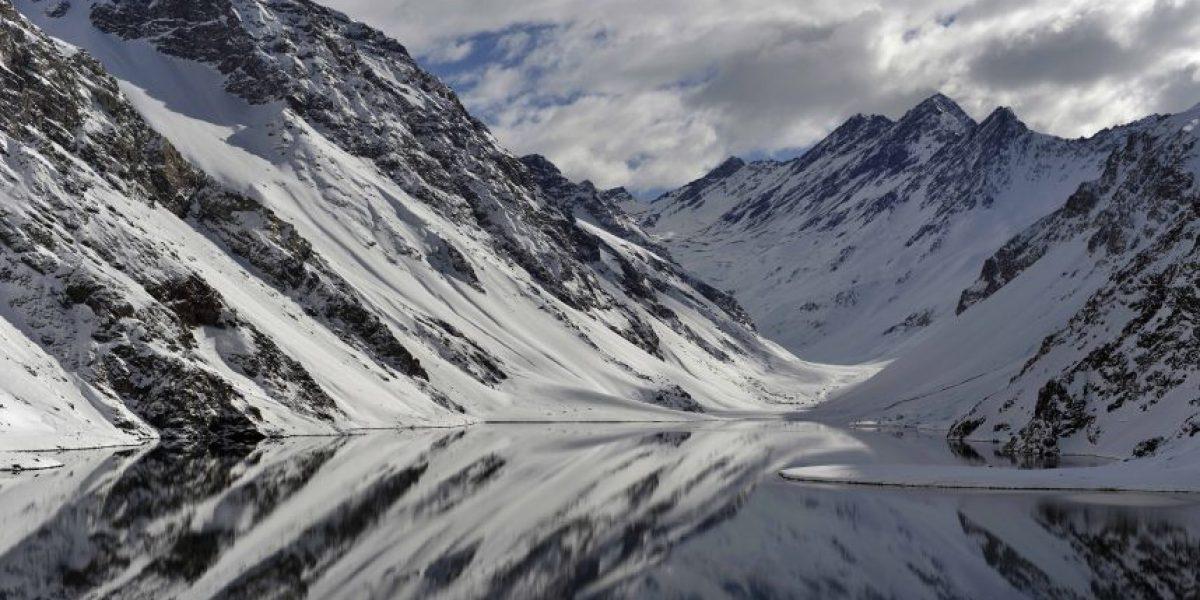 Hermoso paisaje le dio la bienvenida al ski en Portillo