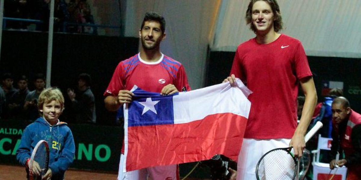 Video: Así fue la celebración de Chile tras ganar tercer duelo por Copa Davis