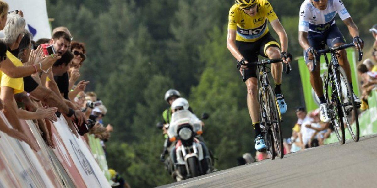 Quintana se coloca segundo en el Tour tras etapa ganada por Cummings