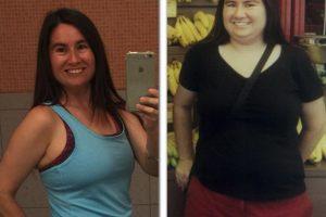 Desde que comenzó, Swidecki logró bajar 34 kilos y redujo su cuerpo 10 tallas, por lo que se ha convertido en un ejemplo a seguir para la gente obesa Foto:facebook.com/pages/Carrie-Swidecki/. Imagen Por: