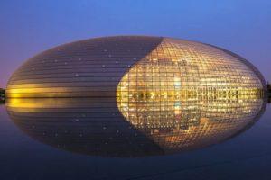 14.El Centro Nacional de las Artes Escénicas, Pekín, China. Foto:GETTY IMAGES. Imagen Por: