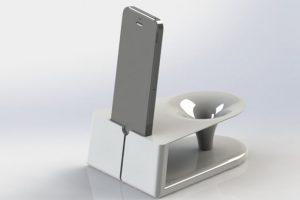 Bocinas y soportes para cargar batería impresos en 3D Foto:Pierre Cerveau. Imagen Por: