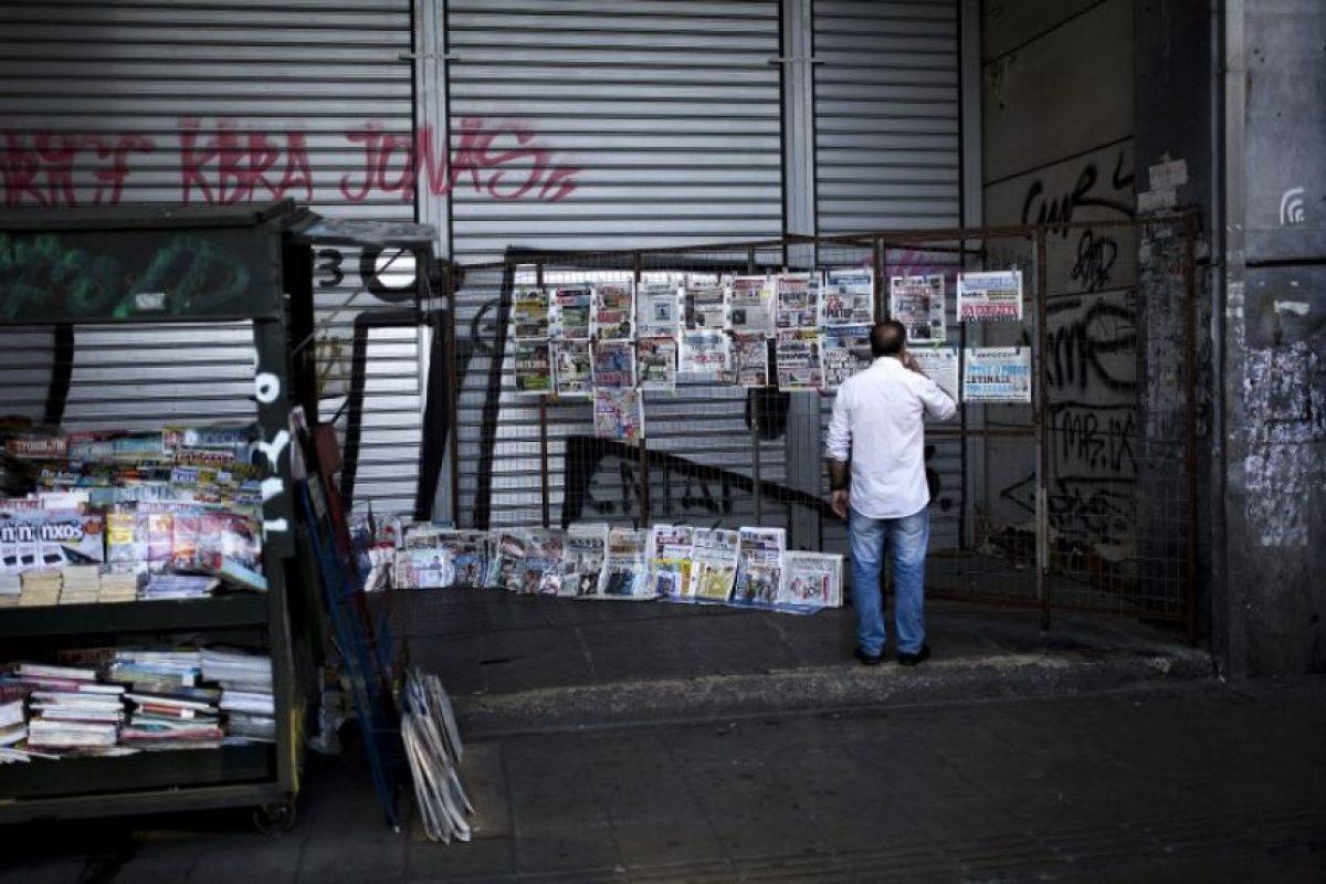 Este cierre fue impuesto por Alexis Tsipras, primer ministro, el 28 de junio Foto:AFP. Imagen Por: