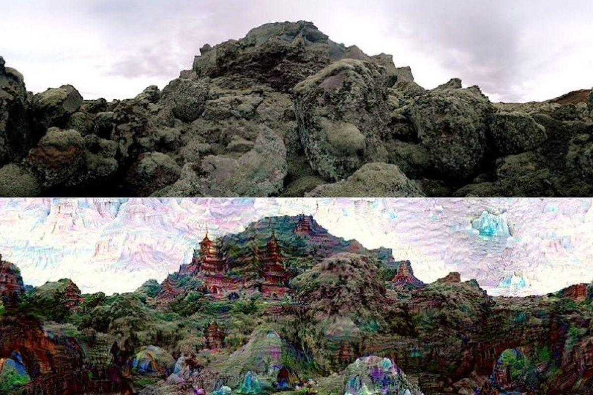 Esta es una comparativa sobre la imagen real y el resultado después de accionar Deep Dreams Foto:Google. Imagen Por: