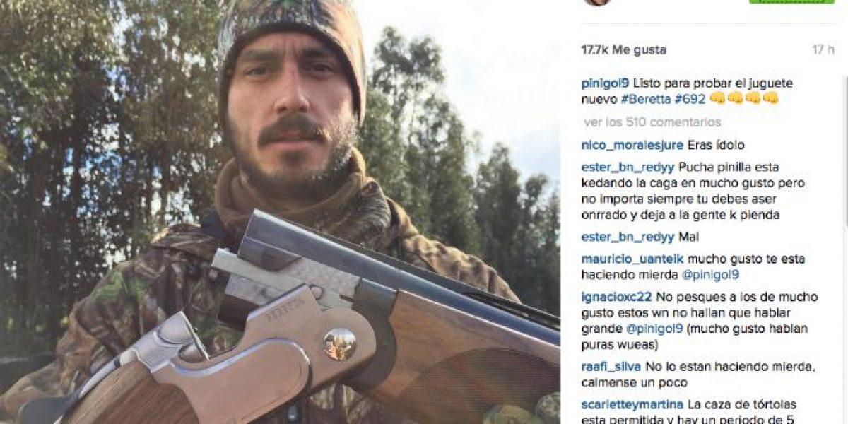 La foto de Pinilla en sus vacaciones que generó una ola de polémicos comentarios