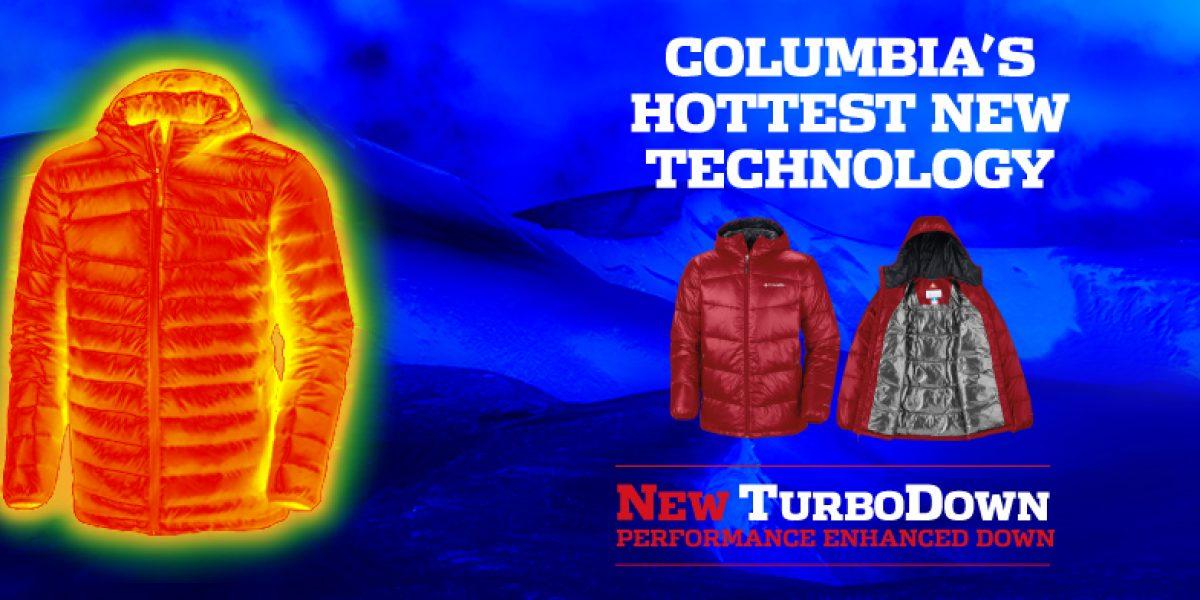 El frío perdió con la tecnología de Columbia Turbo Down