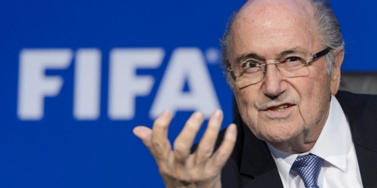 Joseph Blatter ironiza: