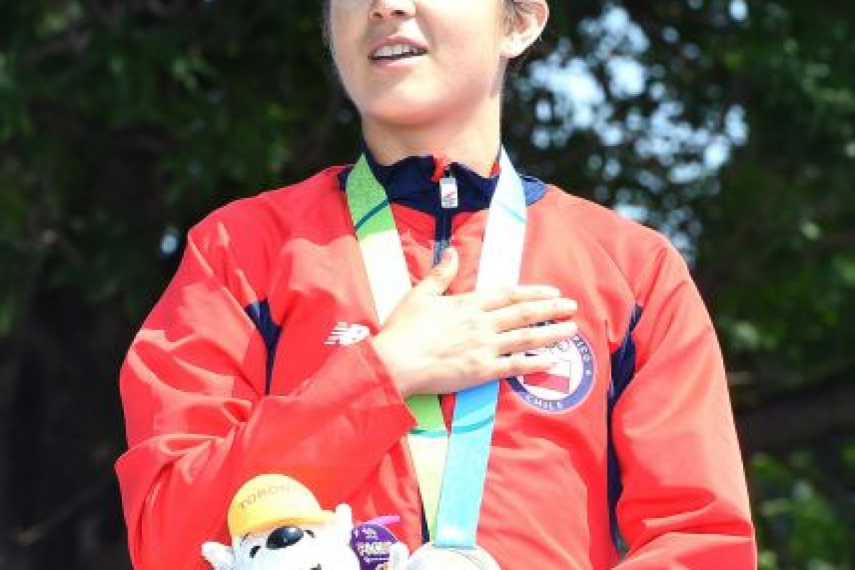 Barbara Riveros de Chile ganó oro en el Triatlón femenino. Foto:Getty Images. Imagen Por: