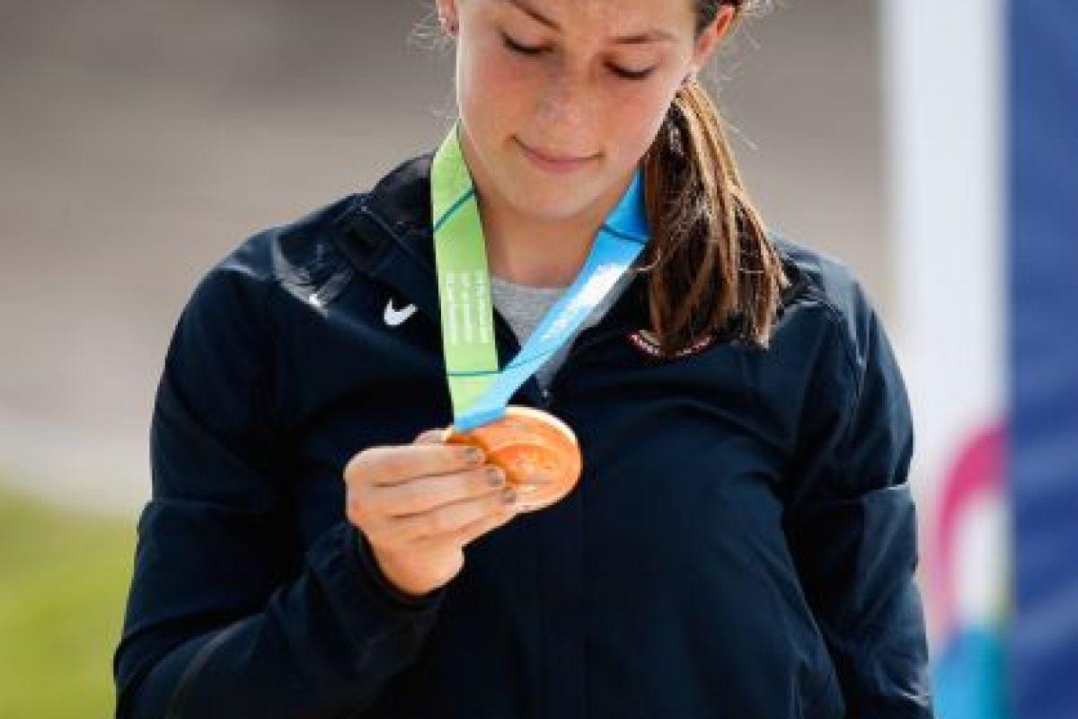 Felicia Stancil con su medalla de oro. Foto:Getty Images. Imagen Por: