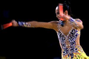 Laura Zeng (Estados Unidos), campeona en de gimnasia rítmica en cinta y mazas. Foto:Getty Images. Imagen Por: