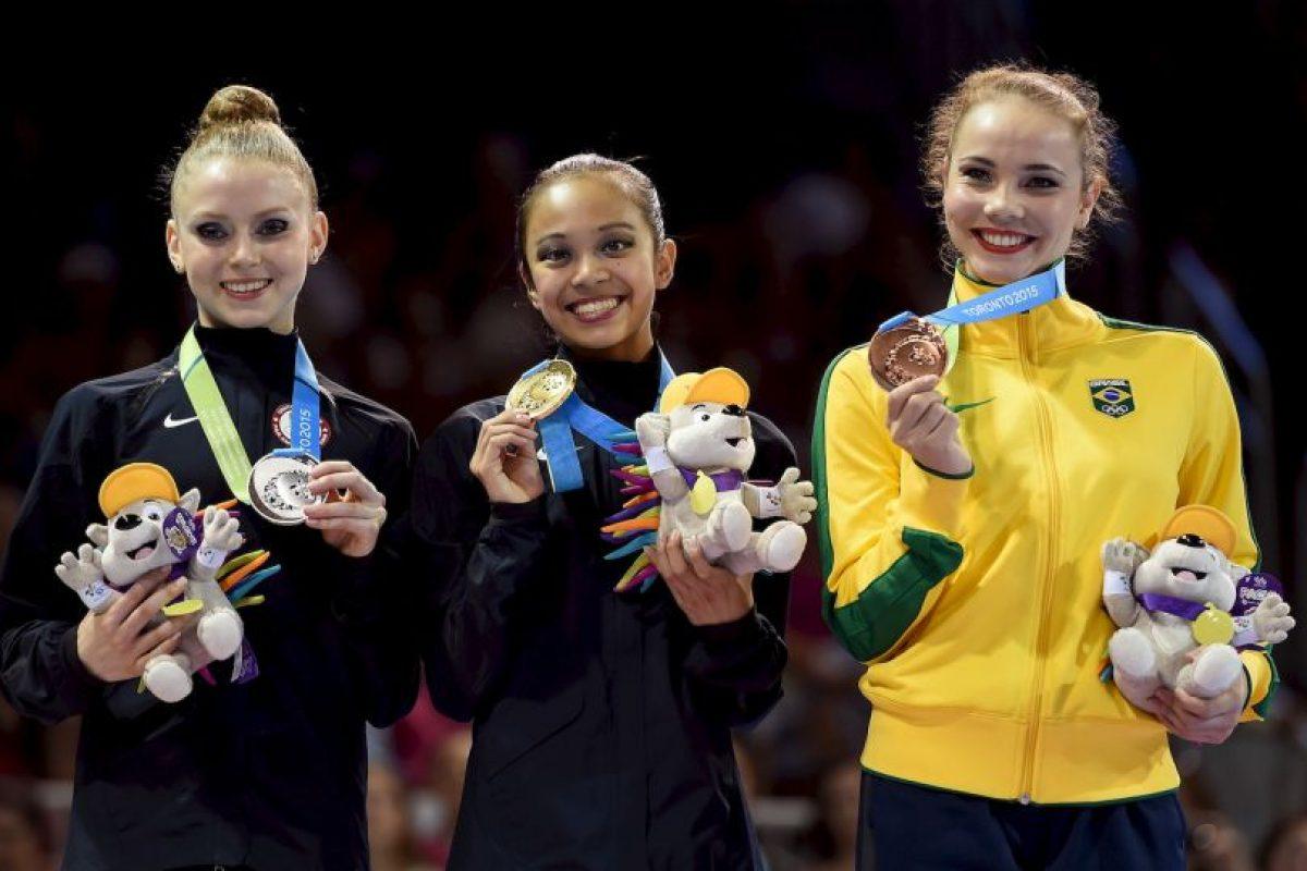 El podio de la prueba de cinta en gimnasia rítmica. Foto:Getty Images. Imagen Por:
