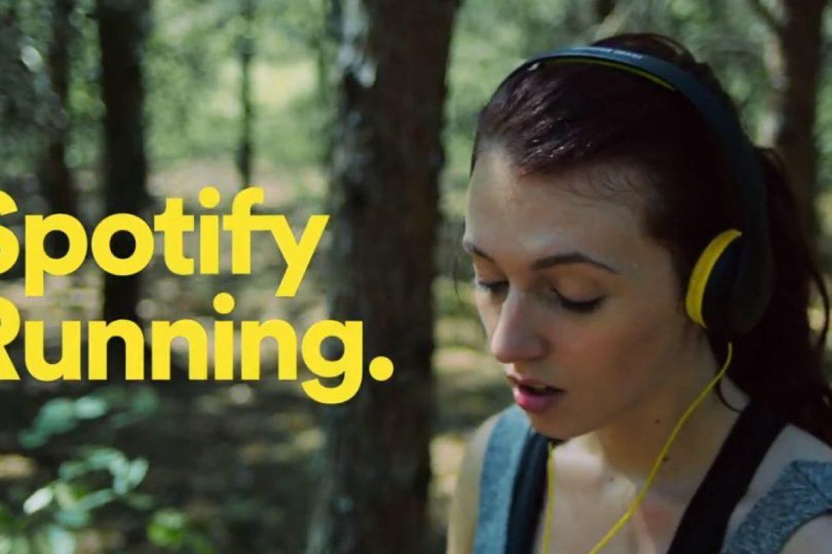 En mayo, Spotify lanzó Running, la app para los corredores que mezcla el deporte con la música Foto:Spotify. Imagen Por: