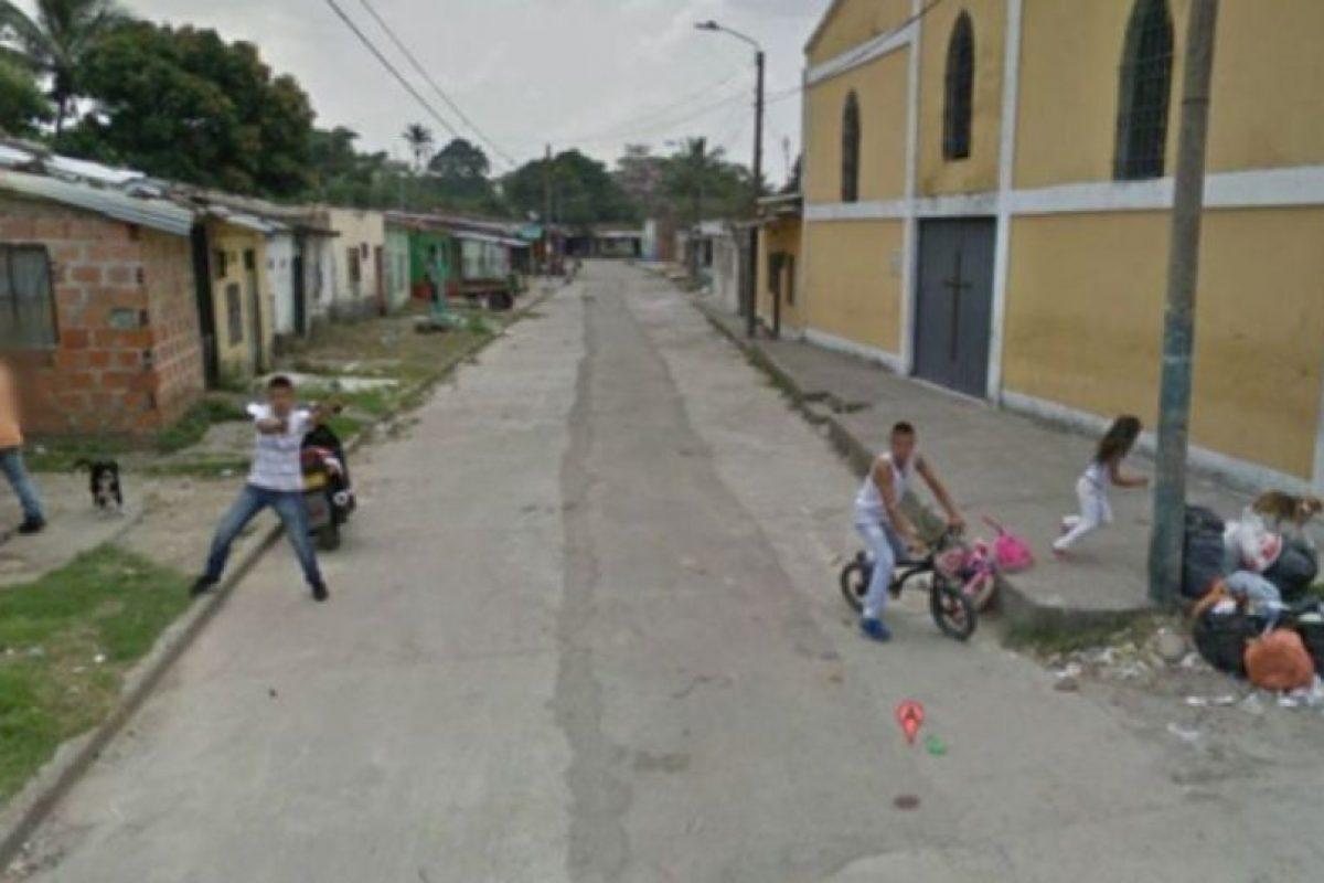En Google Street view se pueden ver cosas traumáticas como esta… Foto:vía Google Street View. Imagen Por: