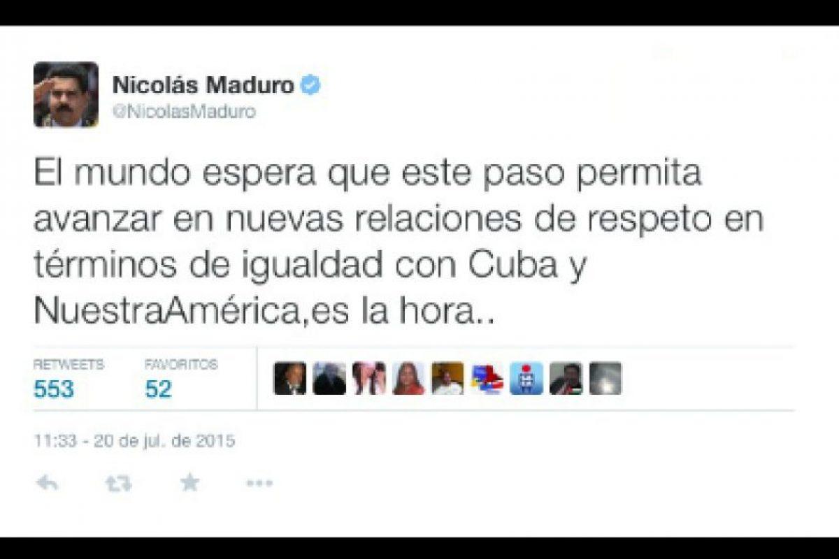 Nicolas Maduro, presidente de Venezuela Foto:Twitter.com/NicolasMaduro. Imagen Por: