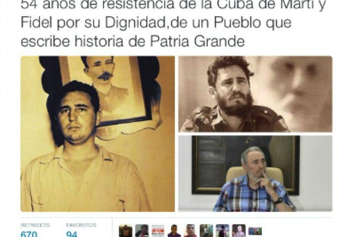 Felicitó a Raúl y a Fidel Castro. Foto:Twitter.com/NicolasMaduro. Imagen Por: