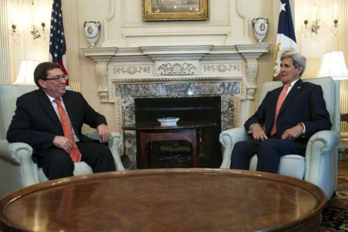 Sin embargo, se mostraron muy alegres por el gran paso que habían dado ambos países. Foto:AP. Imagen Por: