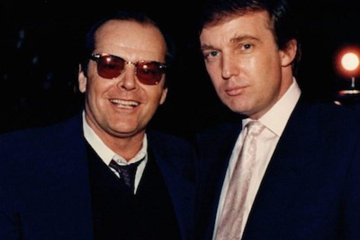 Con el actor Jack Nicholson Foto:Instagram.com/RealDonaldTrump. Imagen Por: