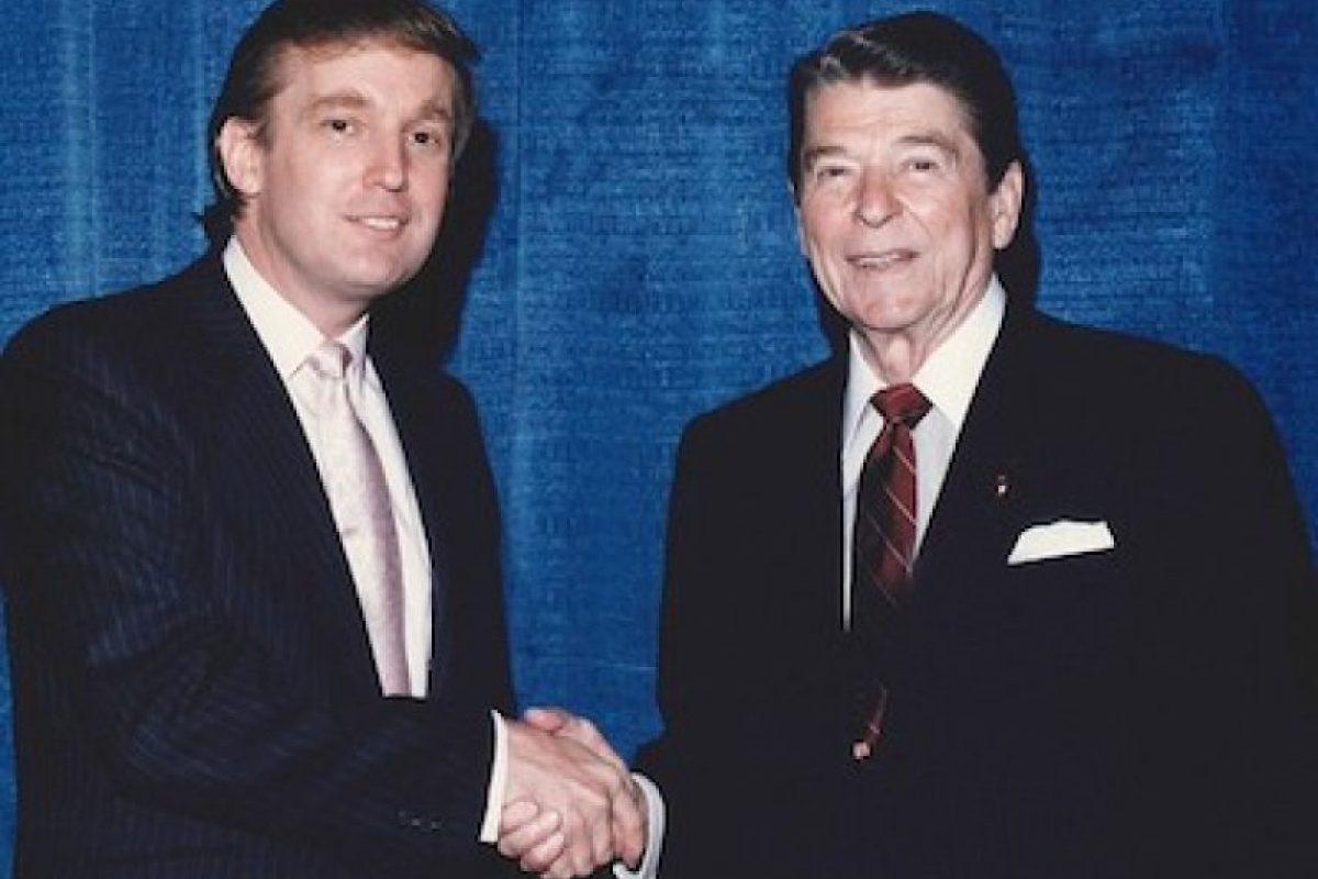 Con el presidente Ronald Reagan Foto:Instagram.com/RealDonaldTrump. Imagen Por: