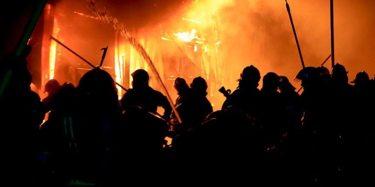 Incendio deja diez damnificados en Puerto Montt
