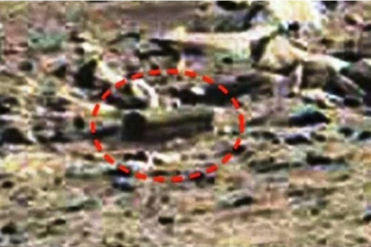 """4. Piedra con forma de ataúd. De acuerdo al sitio """"MundoMisterioso.net"""", esta supuesta caja se encontró en enero de 2015 Foto:NASA. Imagen Por:"""