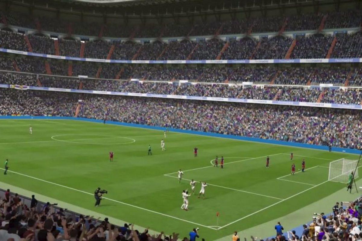 El Santiago Bernabéu celebrando un gol ante el Barcelona en el FIFA 16. Foto:EA Sports. Imagen Por: