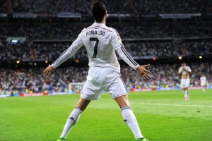 El festejo de Cristiano Ronaldo en la vida real. Foto:Getty Images. Imagen Por: