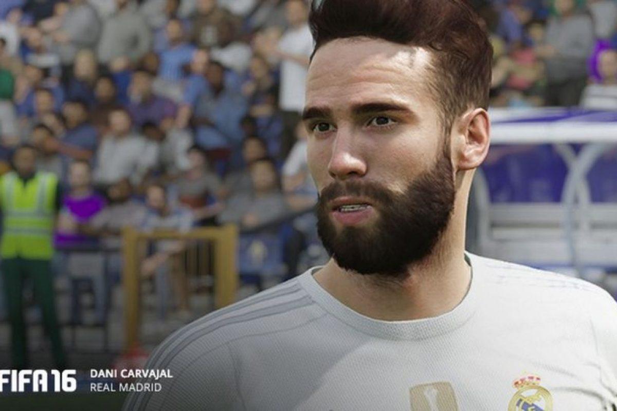 Dani Carvajal en el FIFA 16. Foto:EA Sports. Imagen Por: