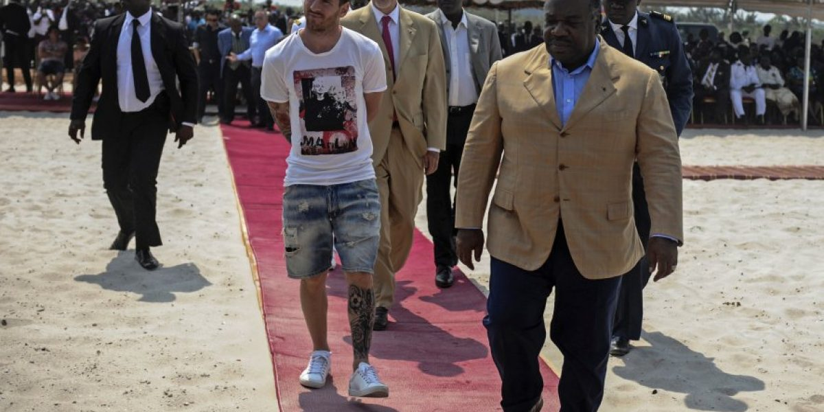 El presidente de Gabón desmiente haber pagado a Messi por su visita