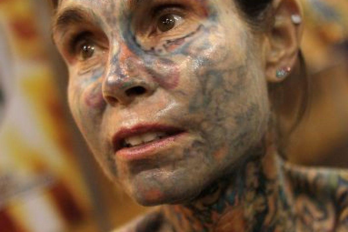 La mujer con más tatuajes Foto:Getty images. Imagen Por: