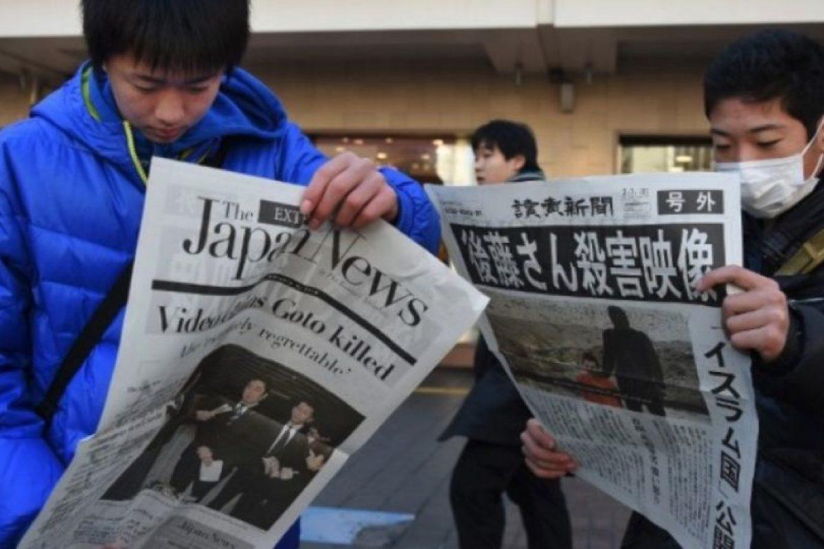 Enero de 2015. El grupo le dio 72 horas al gobierno japonés para negociar un rescate de 200 millones de dólares Foto:AFP. Imagen Por: