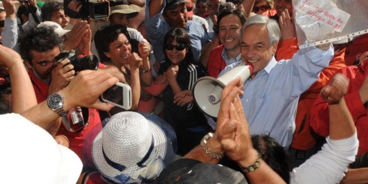 Piñera conmemora en su web el rescate de los mineros