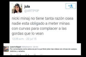 Hubo comentarios que no la apoyaron. Foto:vía Twitter. Imagen Por: