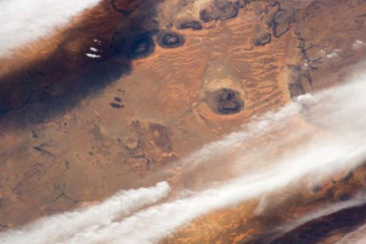 Las nubes de los desiertos al sur de Mauritania, desde la Estación Espacial Internacional. Foto:Vía nasa.gov. Imagen Por:
