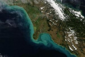 Las corrientes del sur de Nueva Zelanda, desde el satélite Aqua de la NASA. Foto:Vía nasa.gov. Imagen Por: