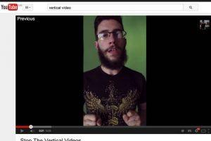 Así era la vista de los video grabados verticalmente Foto:YouTube. Imagen Por: