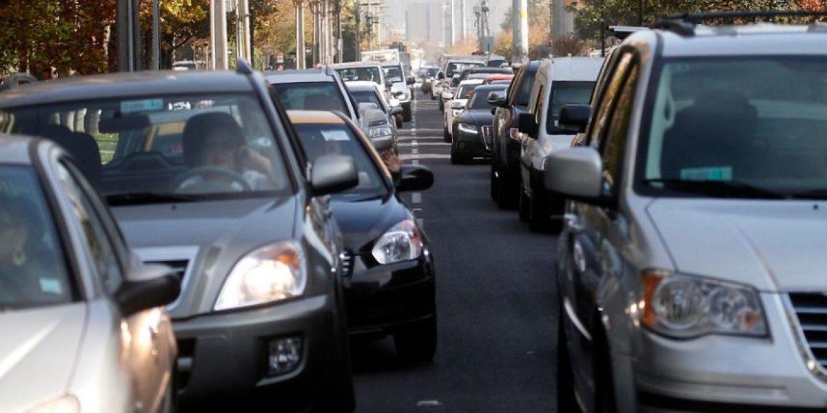 Jueves de congestión: estos son los puntos conflictivos en Santiago