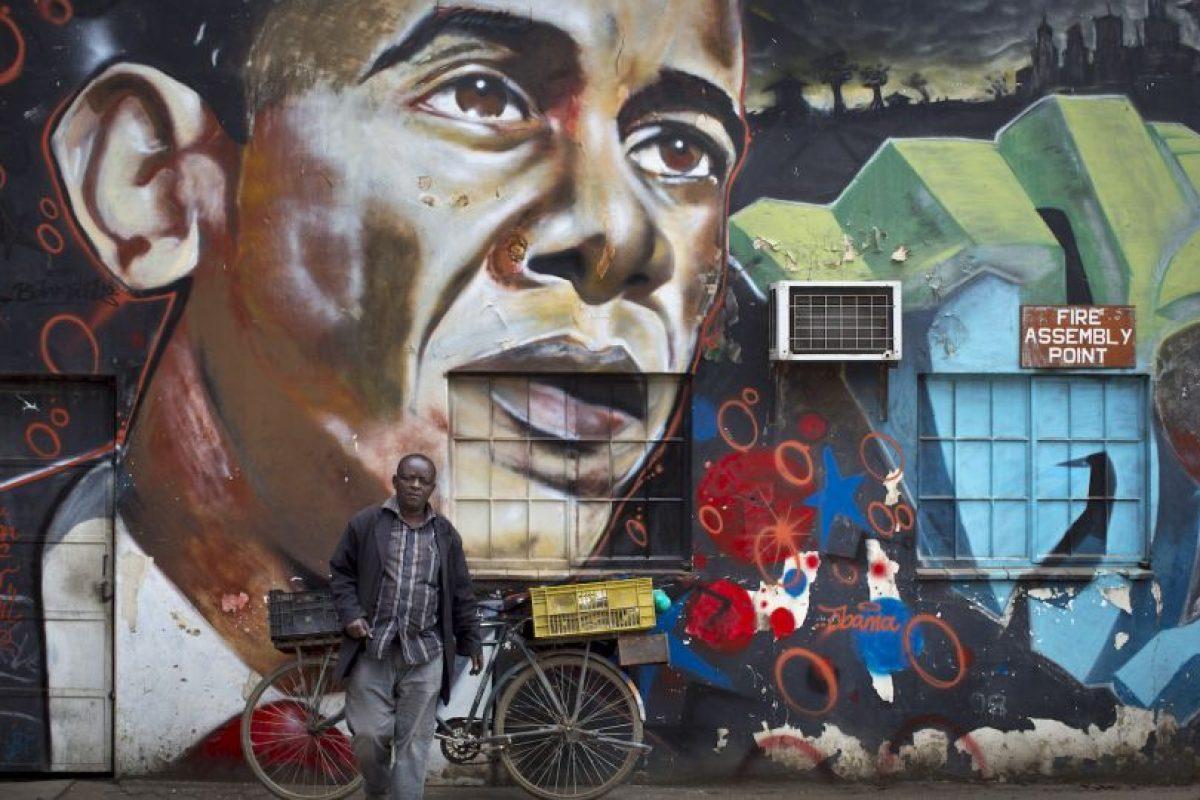También hay grafittis del presidente Foto:AP. Imagen Por: