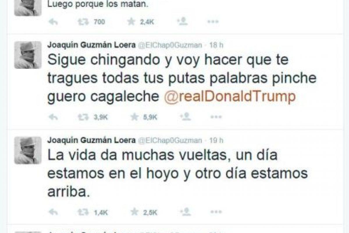 La cuenta de Twitter no ha sido confirmada que sea de Guzmán Loera Foto:Twitter. Imagen Por: