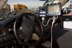 """Microsoft presentó, en 2014, durante la conferencia BUILD, su visión de los coches inteligentes: """"Windows in the Car"""" (nombre provisional) Foto:Getty Images. Imagen Por:"""