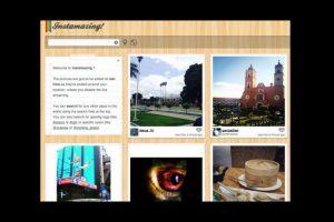 La herramienta también ofrece un mapa de ubicación de las fotografías Foto:instamazing.net/. Imagen Por: