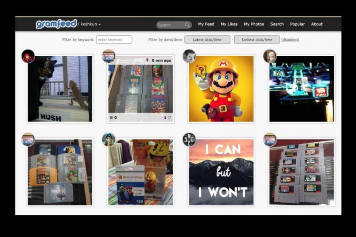 Su buscador facilita encontrar rápidamente dentro de la aplicación fotos populares, etiquetas, nuevos usuarios, fotos de acuerdo a su ubicación en Google Maps Foto:gramfeed.com/. Imagen Por: