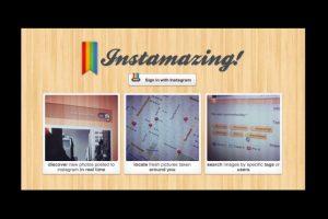Esta plataforma es una aplicación web para descubrir contenido, ya que muestra las últimas imágenes que se añaden a esta plataforma en tiempo real Foto:instamazing.net/. Imagen Por:
