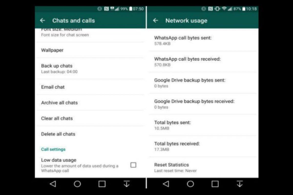 También llegó la nueva herramienta para ahorrar datos en la llamadas por esta aplicación. Foto:WhatsApp. Imagen Por: